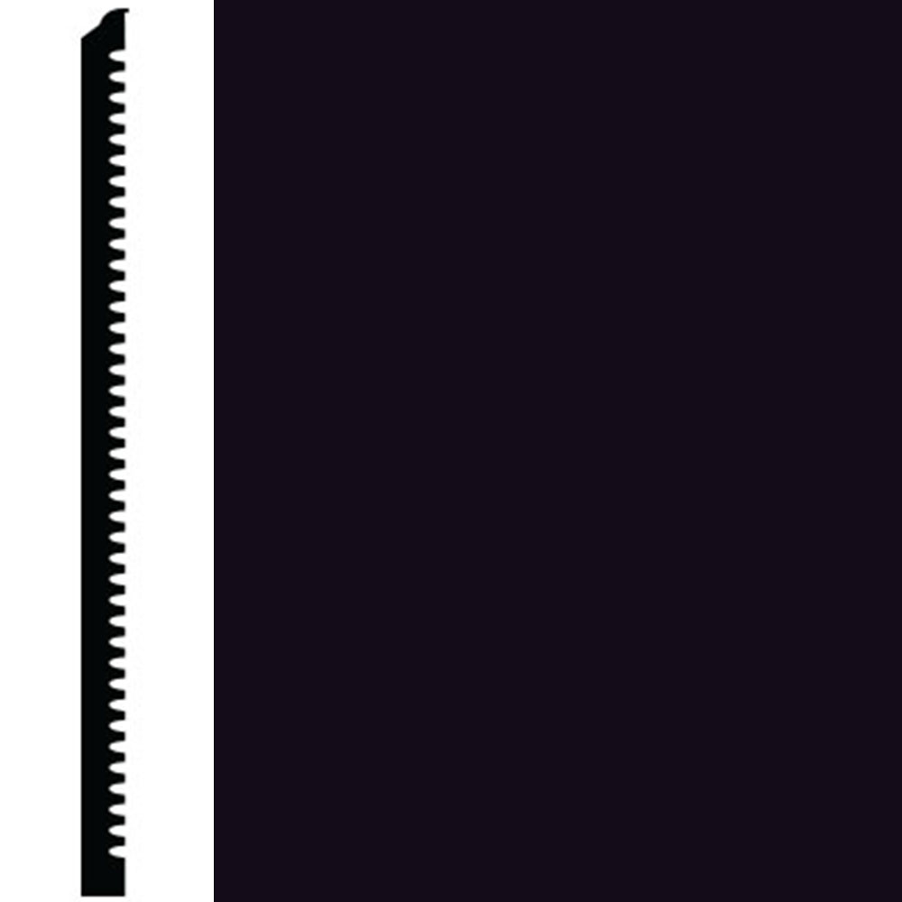Roppe Contours Wall Base 65 Vertical 6 Black