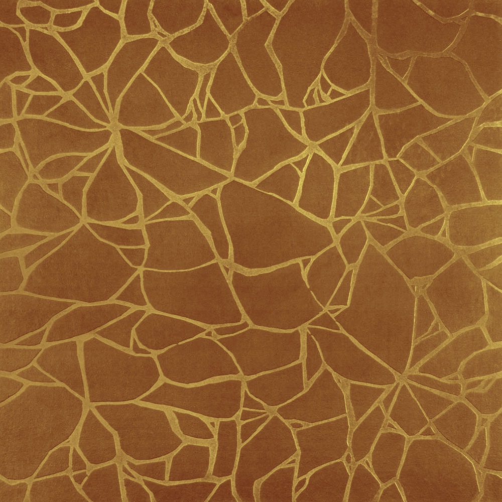 Roppe Dimensions Tile - Crackled Design Brass
