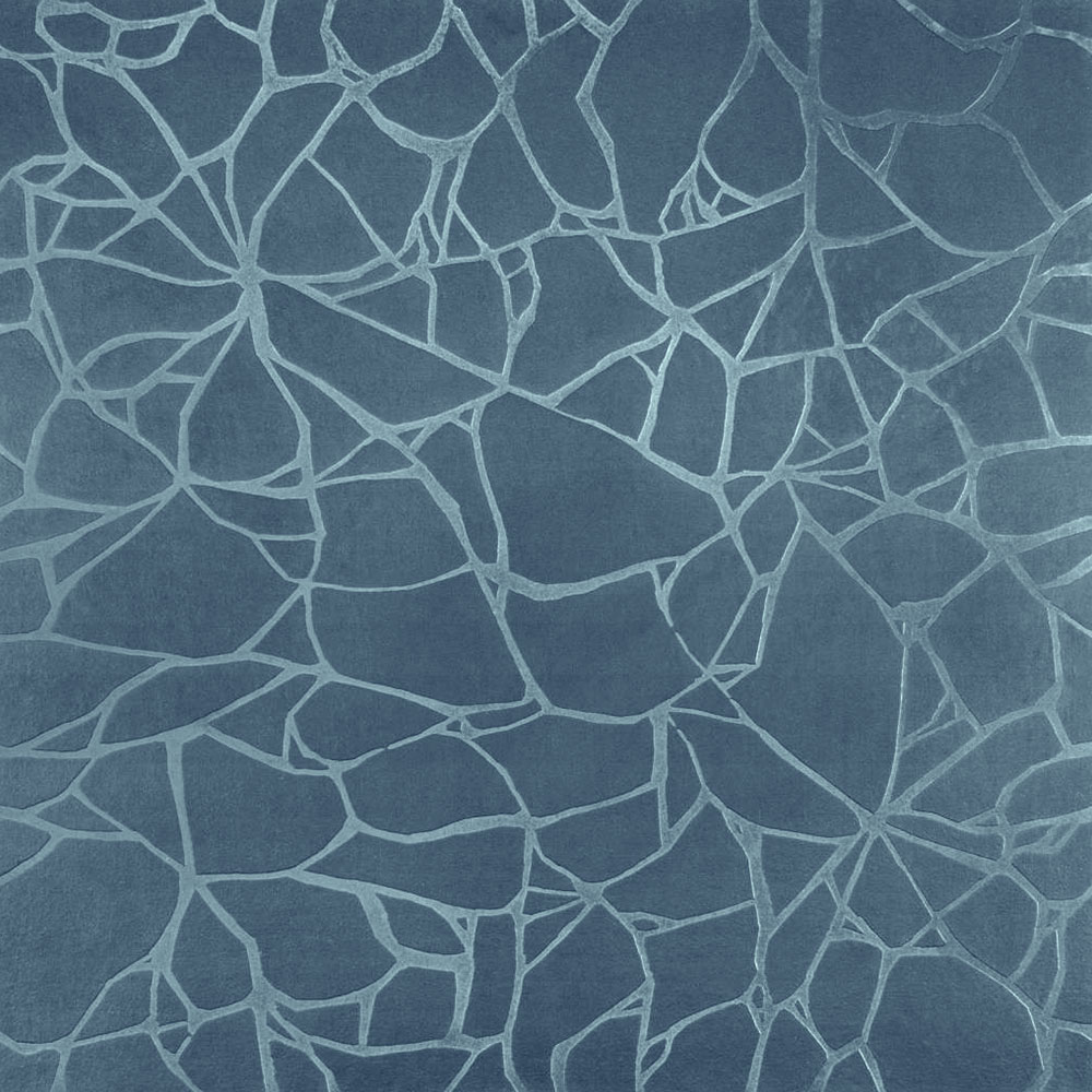 Roppe Dimensions Tile - Crackled Design Colonial Blue