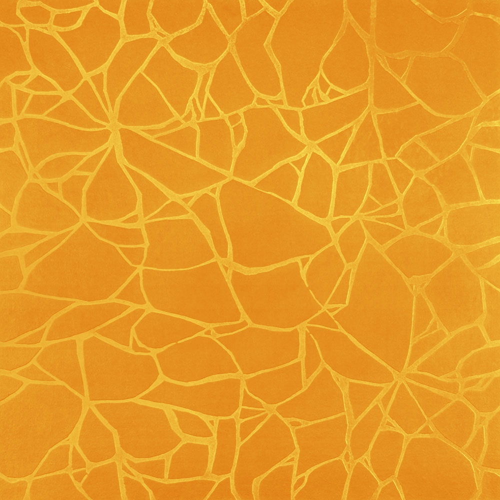 Roppe Dimensions Tile - Crackled Design Golden