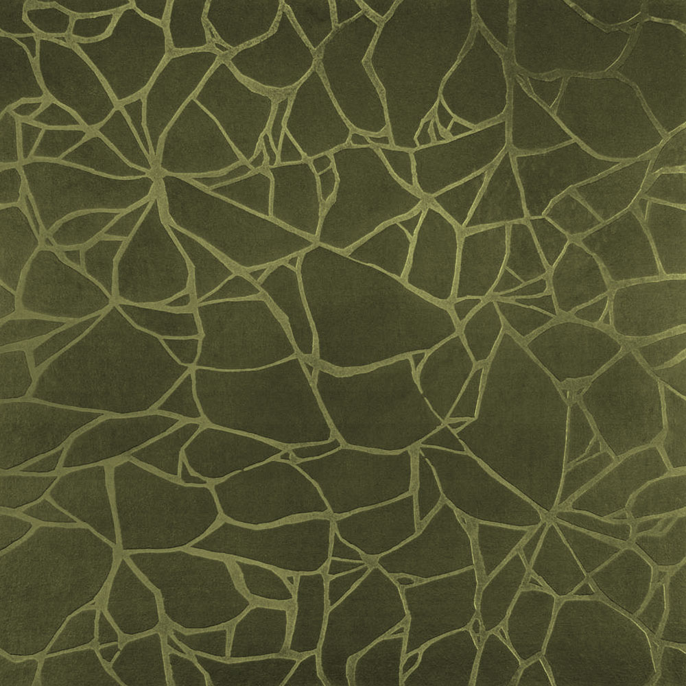 Roppe Dimensions Tile - Crackled Design Olive