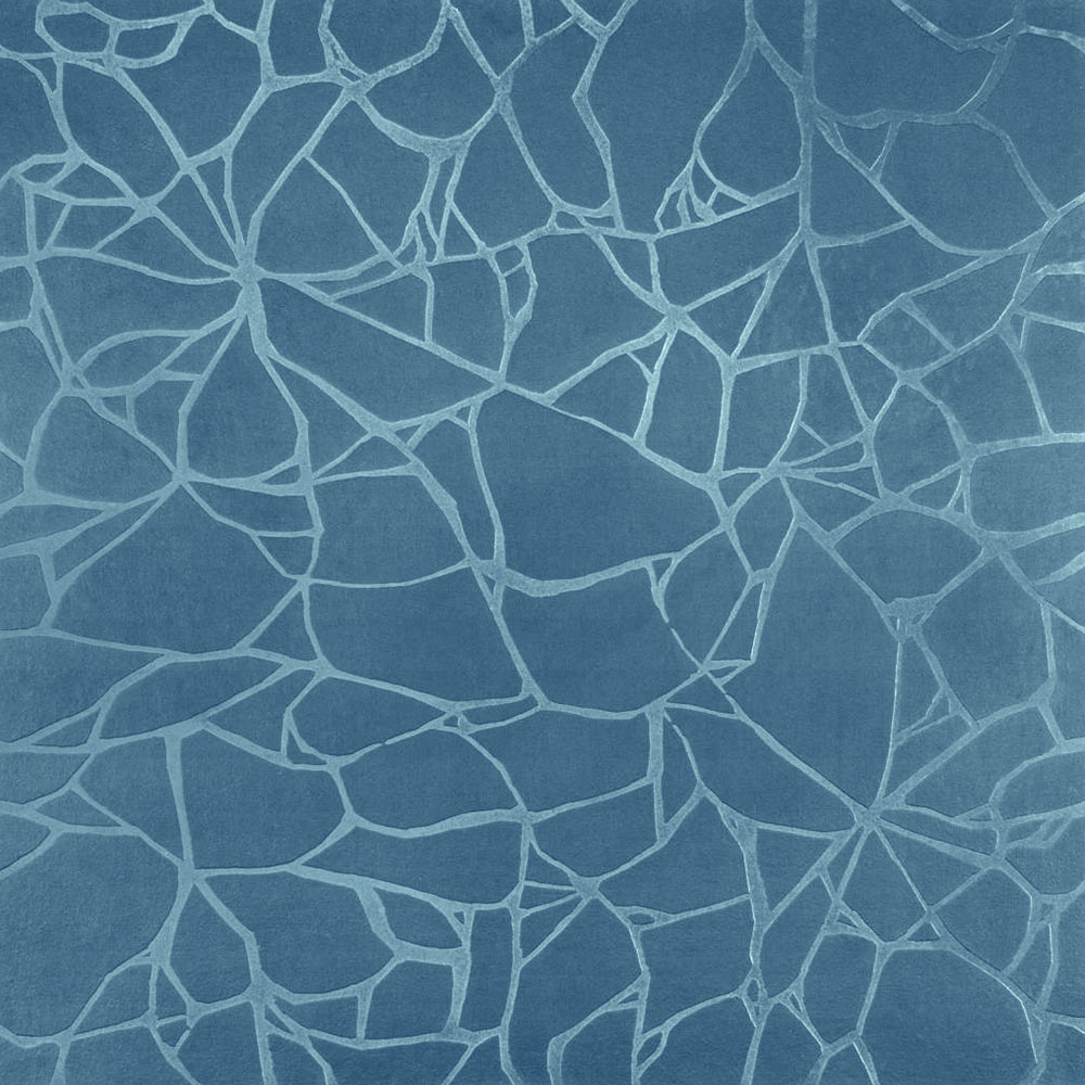 Roppe Dimensions Tile - Crackled Design Salem Blue