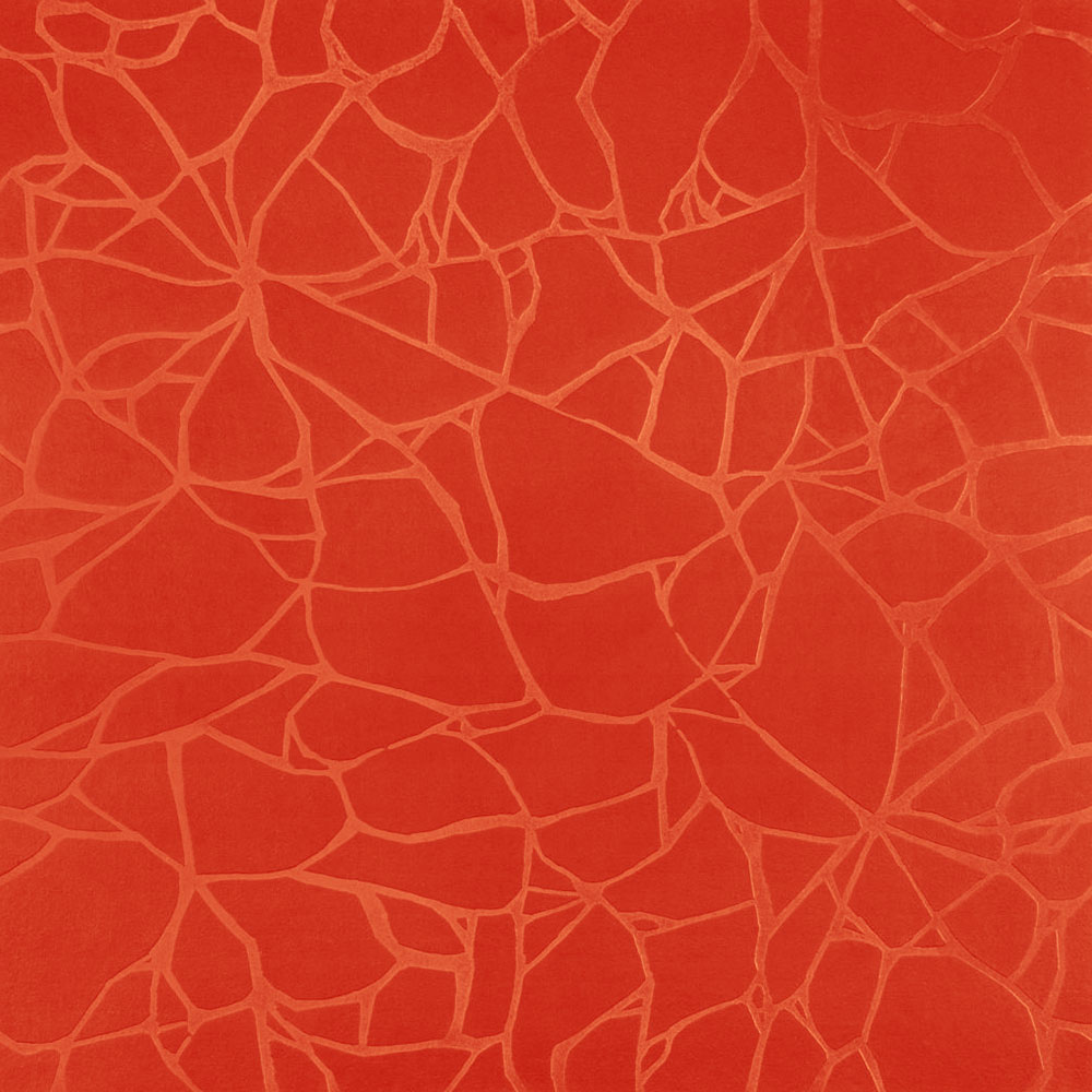 Roppe Dimensions Tile - Crackled Design Tangerine