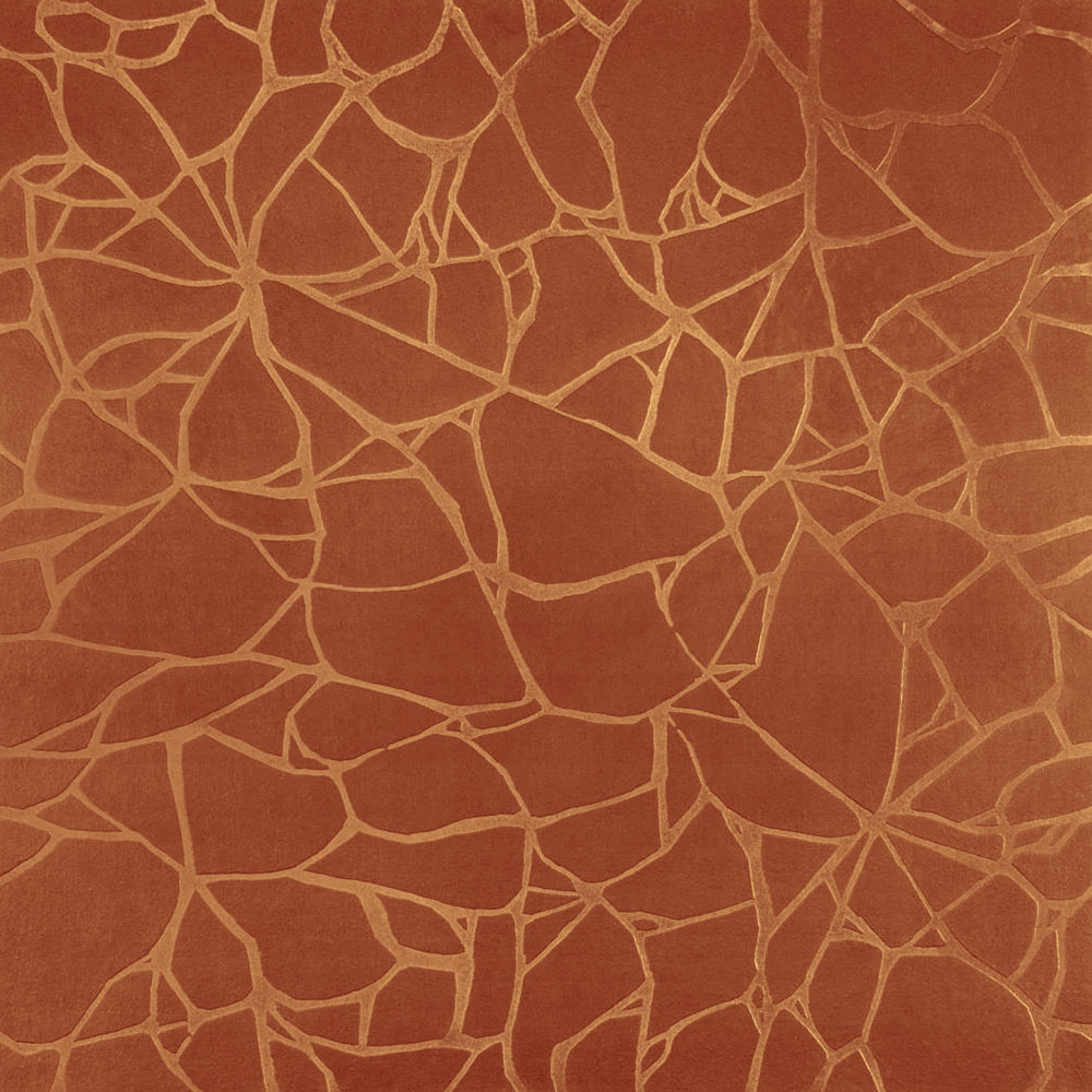 Roppe Dimensions Tile - Crackled Design Terracotta