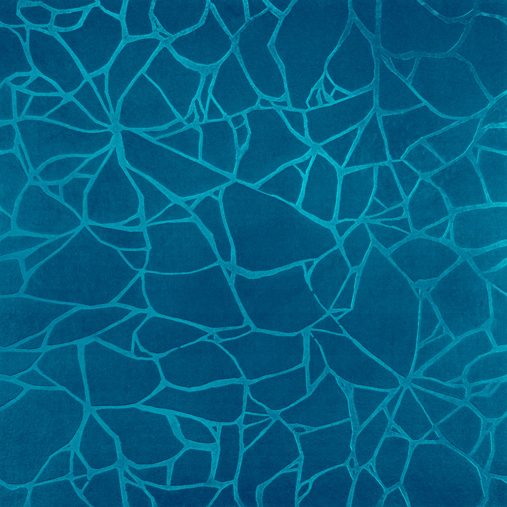 Roppe Dimensions Tile - Crackled Design Tropical Blue