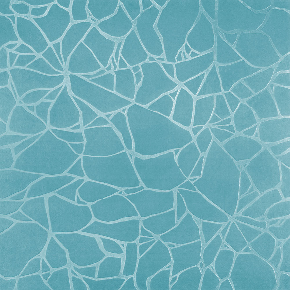 Roppe Dimensions Tile - Crackled Design Turquoise