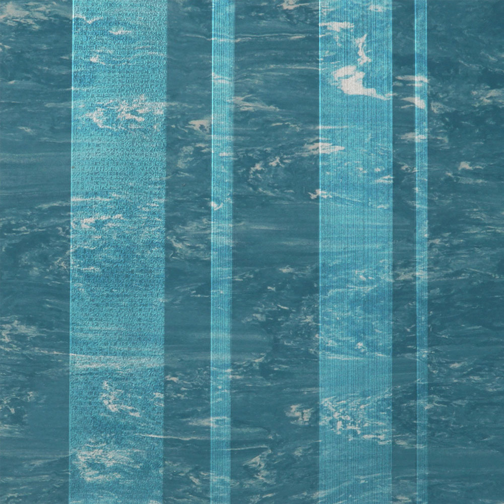 Roppe Dimensions Marbleized Stripe Design Tropical Blue