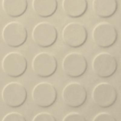 Roppe Rubber Tile 900 - Low Profile Raised Circular Design (992) Almond 992P184