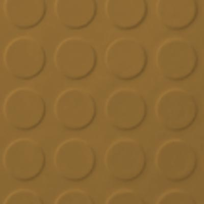 Roppe Rubber Tile 900 - Low Profile Raised Circular Design (992) Brass 992P622