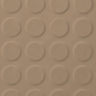 Roppe Rubber Tile 900 - Low Profile Raised Circular Design (992) Buckskin 992P130