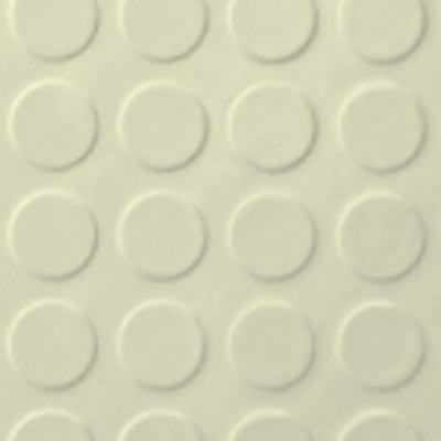 Roppe Rubber Tile 900 - Low Profile Raised Circular Design (992) Cream 992P615