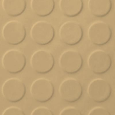Roppe Rubber Tile 900 - Low Profile Raised Circular Design (992) Harvest Yellow 992P127