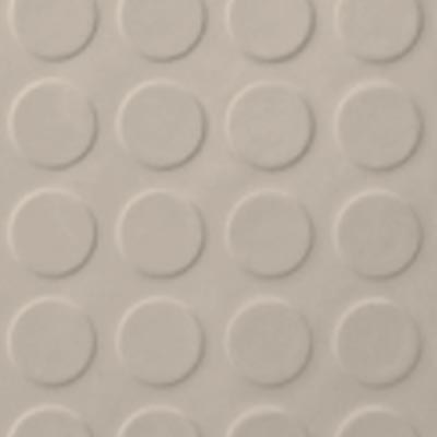 Roppe Rubber Tile 900 - Low Profile Raised Circular Design (992) Ivory 992P198