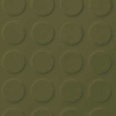 Roppe Rubber Tile 900 - Low Profile Raised Circular Design (992) Olive 992P634