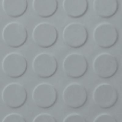 Roppe Rubber Tile 900 - Low Profile Raised Circular Design (992) Platinum 992P616