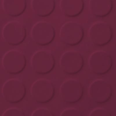 Roppe Rubber Tile 900 - Low Profile Raised Circular Design (992) Plum 992P620