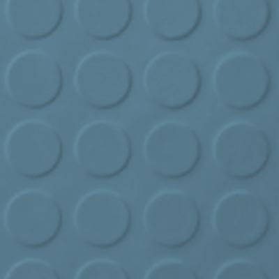 Roppe Rubber Tile 900 - Low Profile Raised Circular Design (992) Salem Blue 992P154