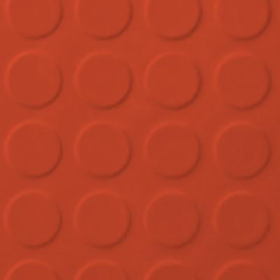 Roppe Rubber Tile 900 - Low Profile Raised Circular Design (992) Tangerine 992P626