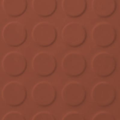 Roppe Rubber Tile 900 - Low Profile Raised Circular Design (992) Terracotta 992P617
