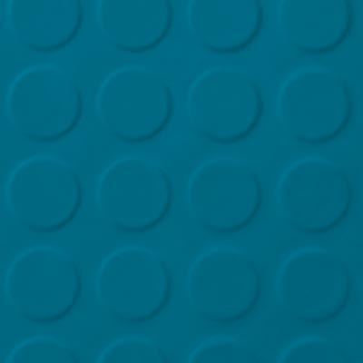 Roppe Rubber Tile 900 - Low Profile Raised Circular Design (992) Tropical Blue 992P606