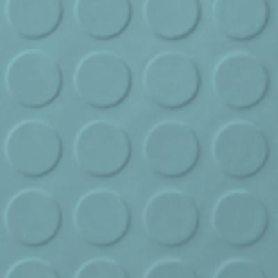 Roppe Rubber Tile 900 - Low Profile Raised Circular Design (992) Turquoise 992P146