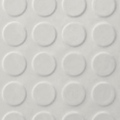 Roppe Rubber Tile 900 - Low Profile Raised Circular Design (992) White 992P170