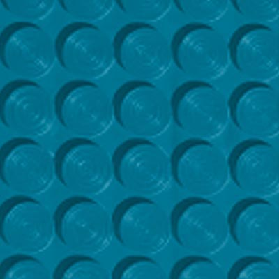Roppe Rubber Tile 900 - Lug Back Vantage Design (LB996) Tropical Blue LB996606