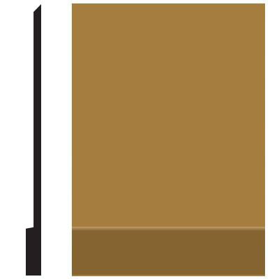 Roppe Pinnacle Plus Wall Base 00 Simplicity Brass 622