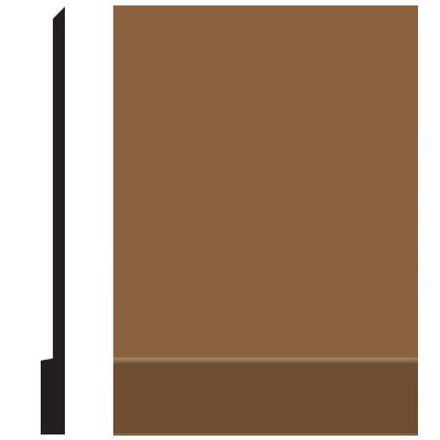 Roppe Pinnacle Plus Wall Base 00 Simplicity Bronze 625