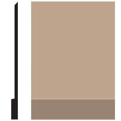 Roppe Pinnacle Plus Wall Base 00 Simplicity Camel 191