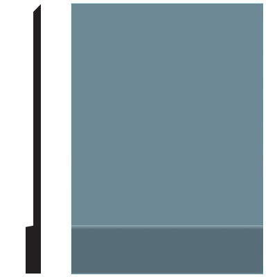 Roppe Pinnacle Plus Wall Base 00 Simplicity Colonial Blue 165