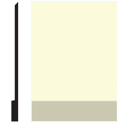 Roppe Pinnacle Plus Wall Base 00 Simplicity Cream 615