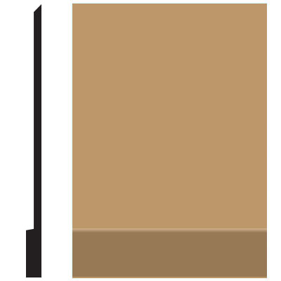 Roppe Pinnacle Plus Wall Base 00 Simplicity Flax 632