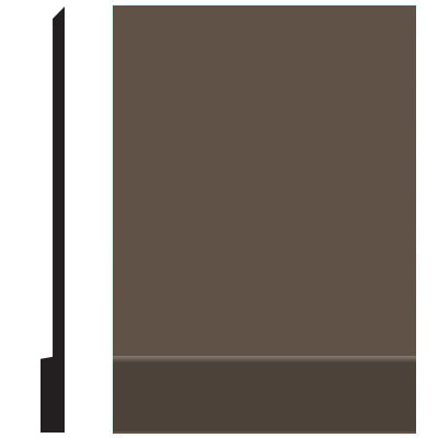 Roppe Pinnacle Plus Wall Base 00 Simplicity Light Brown 147