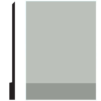 Roppe Pinnacle Plus Wall Base 00 Simplicity Light Gray 195