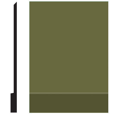 Roppe Pinnacle Plus Wall Base 00 Simplicity Olive 634