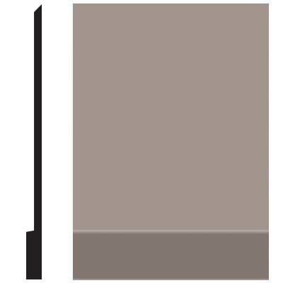 Roppe Pinnacle Plus Wall Base 00 Simplicity Pewter 178