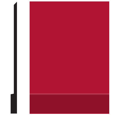 Roppe Pinnacle Plus Wall Base 00 Simplicity Red 186