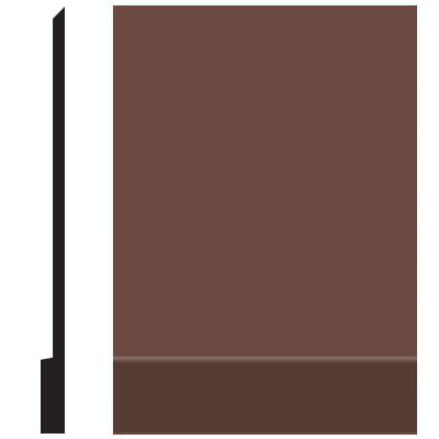 Roppe Pinnacle Plus Wall Base 00 Simplicity Russet 181