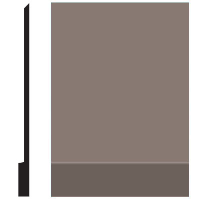 Roppe Pinnacle Plus Wall Base 00 Simplicity Taupe 124
