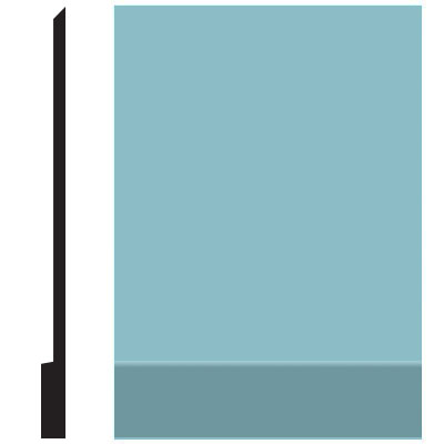 Roppe Pinnacle Plus Wall Base 00 Simplicity Turquoise 146