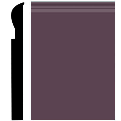 Roppe Pinnacle Plus Wall Base 05 Contrive Burgundy 185