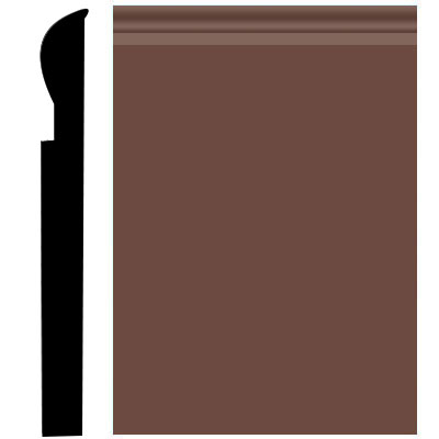 Roppe Pinnacle Plus Wall Base 05 Contrive Russet 181