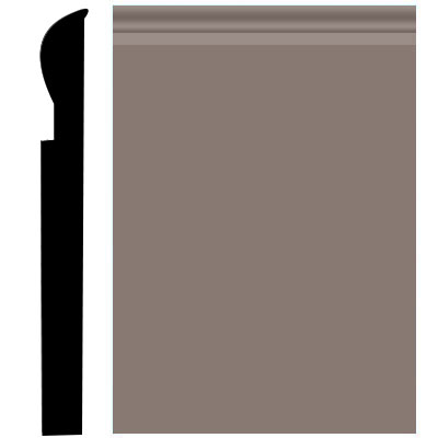 Roppe Pinnacle Plus Wall Base 05 Contrive Taupe 124
