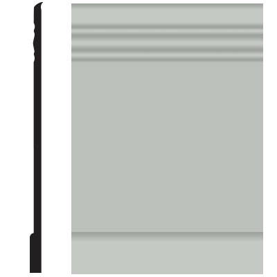 Roppe Pinnacle Plus Wall Base 10 Serenity Light Gray 195