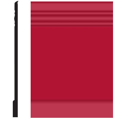 Roppe Pinnacle Plus Wall Base 10 Serenity Red 186
