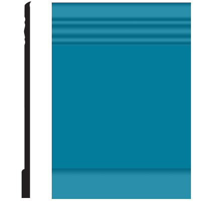 Roppe Pinnacle Plus Wall Base 10 Serenity Tropical Blue 606