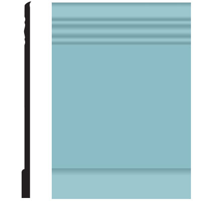 Roppe Pinnacle Plus Wall Base 10 Serenity Turquoise 146