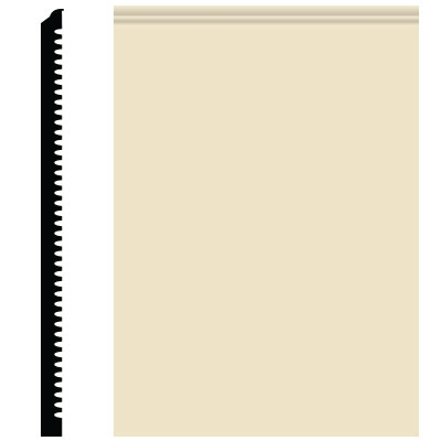Roppe Pinnacle Plus Wall Base 65 Vertical Almond 184