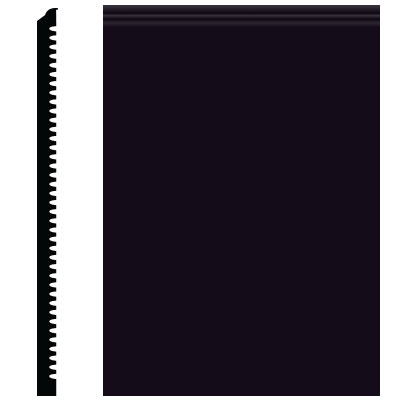 Roppe Pinnacle Plus Wall Base 65 Vertical Black 100